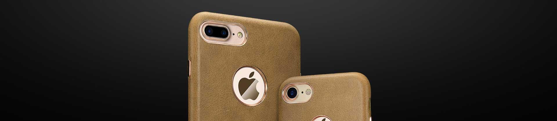 iPhone 8 Plus Étui Cuir
