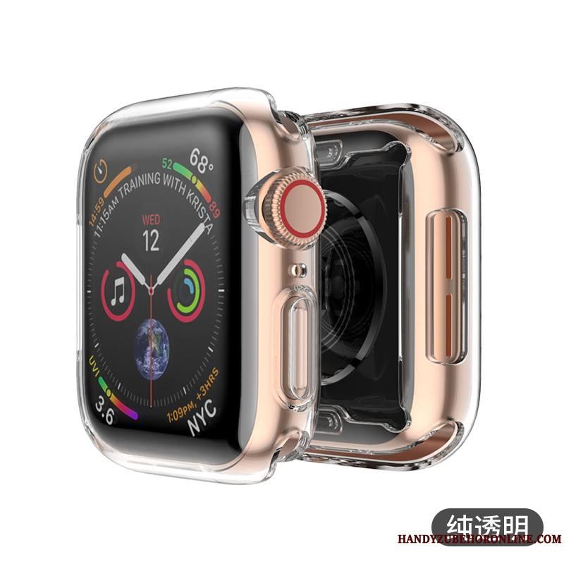 Apple Watch Series 1 Coque Métal Jours Argent Transparent Étui Tout Compris Placage