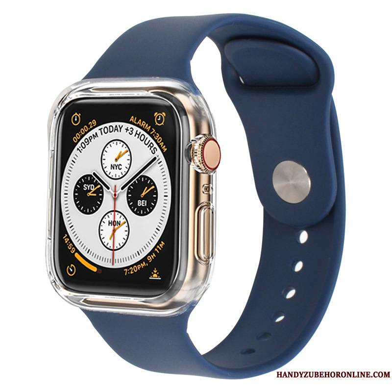 Apple Watch Series 3 Protection Coque Étui Noir Silicone Sport Bicolore
