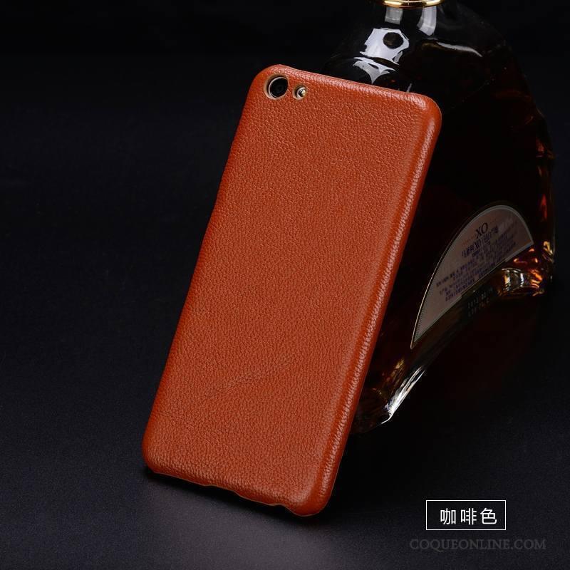 Htc U11 Coque De Téléphone Protection Étui En Cuir Marron Incassable Cuir Véritable Personnalisé