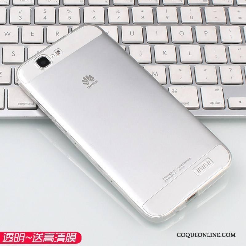 Huawei Ascend G7 Rose Transparent Grand Téléphone Portable Coque De Téléphone Incassable Très Mince
