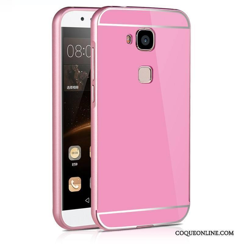 Huawei G7 Plus Difficile Étui Métal Coque De Téléphone Bleu Très Mince Protection