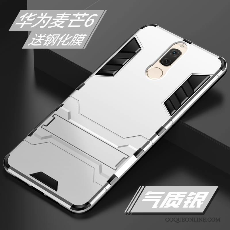 Huawei Mate 10 Lite Coque Incassable Bleu Protection Personnalité Tendance Silicone Créatif