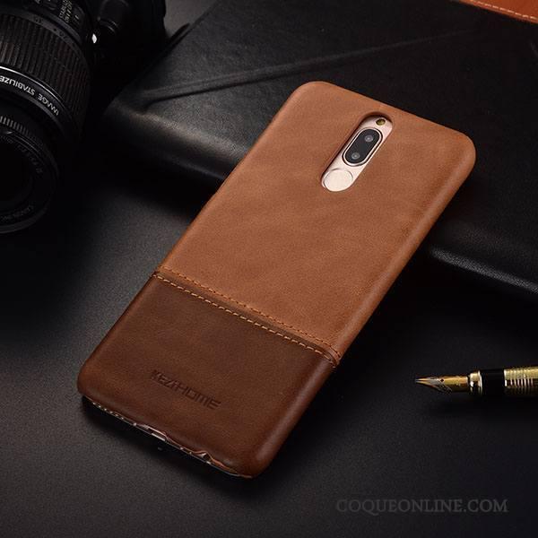 Huawei Mate 10 Lite Protection Coque De Téléphone Très Mince Étui Business Cuir Véritable