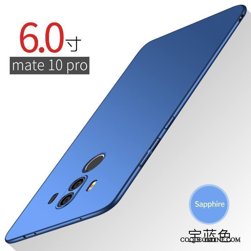 Huawei Mate 10 Pro Étui Difficile Délavé En Daim Coque De Téléphone Très Mince Or Incassable