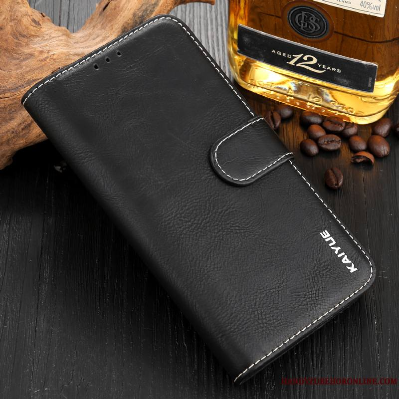 Huawei Mate 20 Vert Étui En Cuir Fluide Doux Coque De Téléphone Incassable Protection Carte