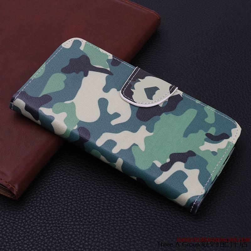 Huawei Mate 20 X Créatif Étui En Cuir Vert Protection Coque De Téléphone Personnalité Incassable