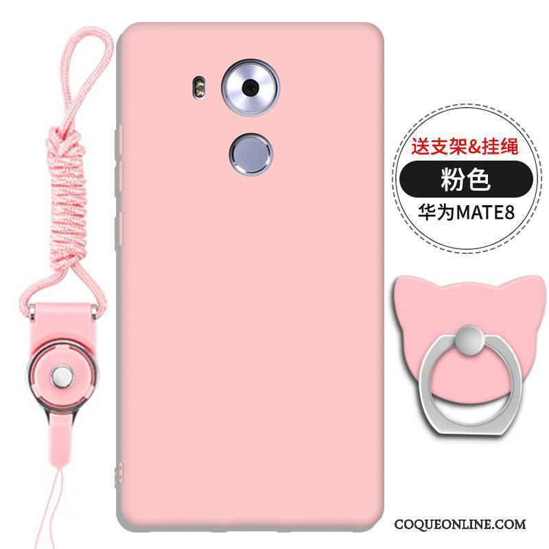 Huawei Mate 8 Support Ornements Suspendus Gaufrage Rouge Coque De Téléphone Silicone Tout Compris