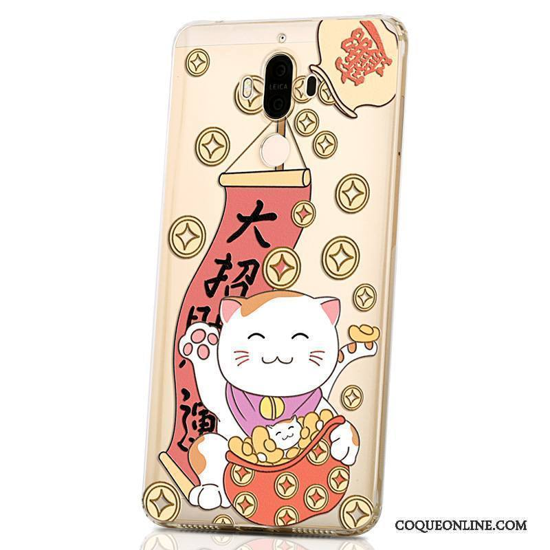 Huawei Mate 9 Coque Créatif Étui Silicone Personnalité Protection Violet Charmant