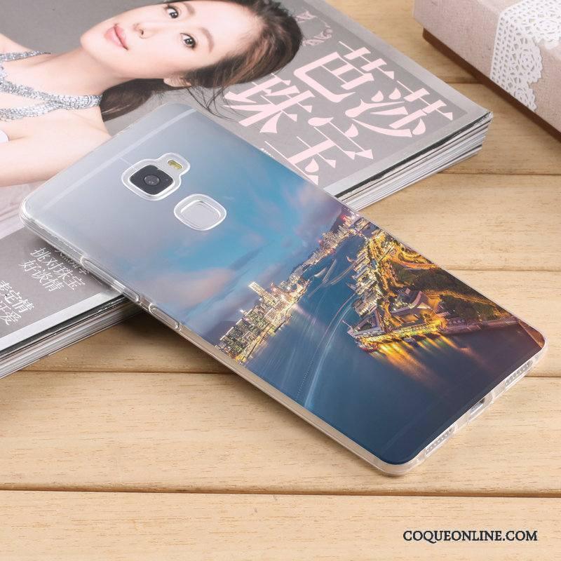 Huawei Mate S Coque Silicone Tendance Créatif Étui Protection Bleu Très Mince