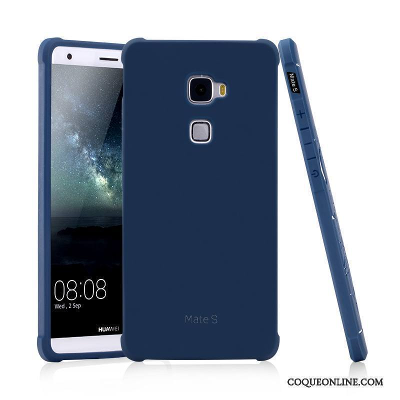 Huawei Mate S Noir Gaufrage Incassable Étui Délavé En Daim Business Coque De Téléphone