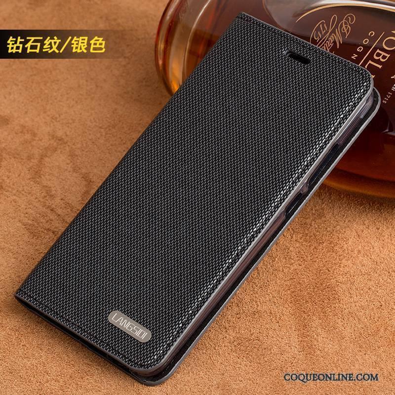 Huawei Mate S Tendance Business Coque De Téléphone Argent Luxe Cuir Véritable Incassable