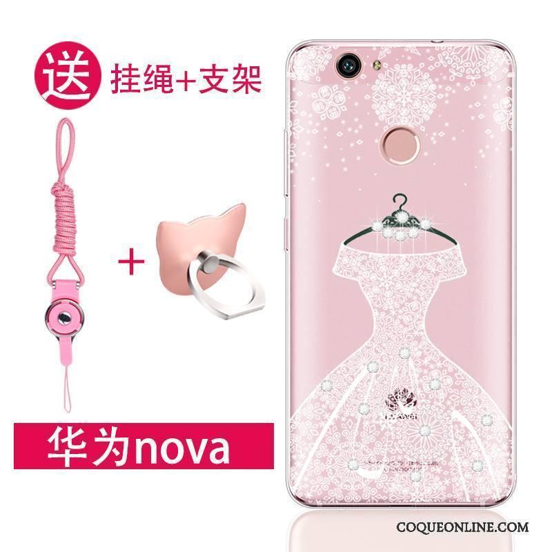 Huawei Nova Jeunesse Rose Fluide Doux Silicone Coque De Téléphone
