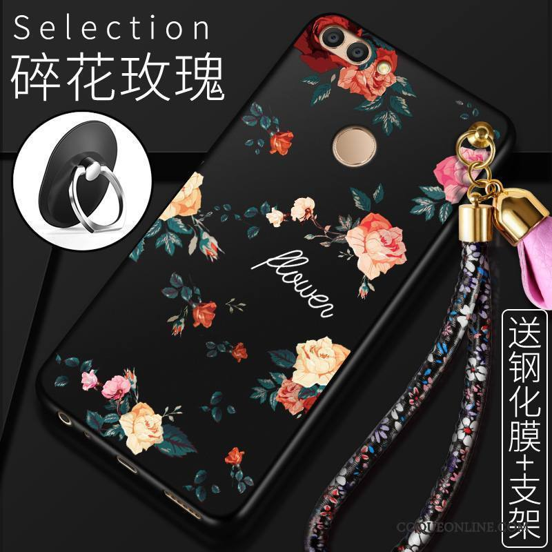 Huawei P Smart Coque De Téléphone Noir Fluide Doux Protection Tendance Étui Silicone