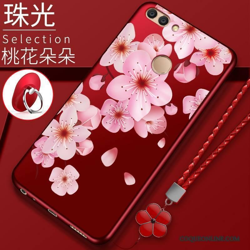 Huawei P Smart Tout Compris Protection Silicone Étui Rouge Coque De Téléphone Incassable