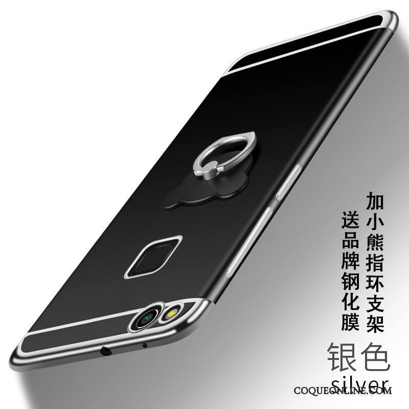 Huawei P10 Lite Jeunesse Incassable Argent Étui Très Mince Coque Fluide Doux