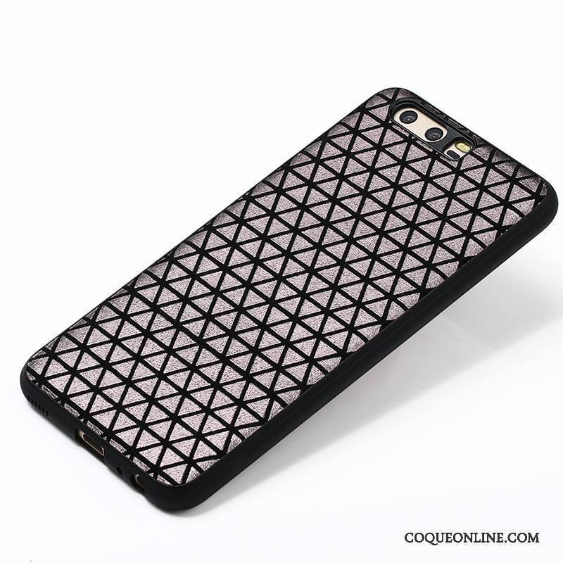 Huawei P10 Plus Protection Noir Silicone Blanc Coque De Téléphone Couvercle Arrière Jaune