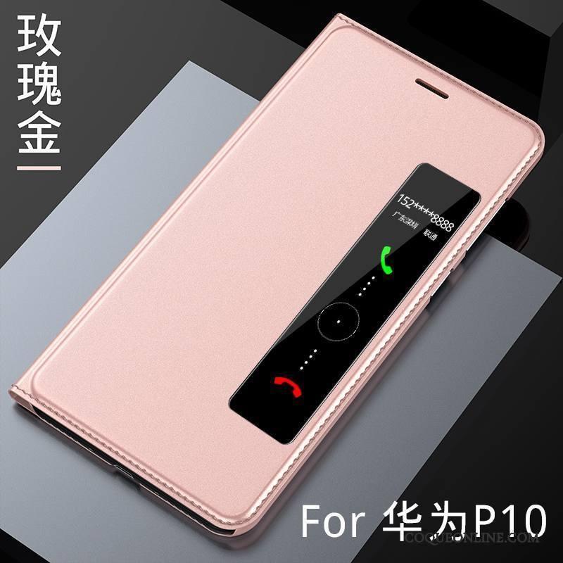 Huawei P10 Rose Tout Compris Housse Étui En Cuir Incassable Protection Coque De Téléphone