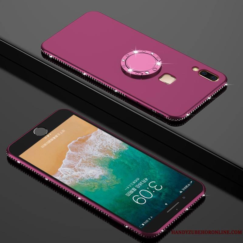 Huawei P20 Lite Coque Fluide Doux Protection Incassable Tempérer Étui Personnalité Strass