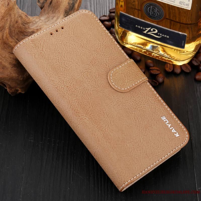 Huawei P20 Portefeuille Coque Protection Vert Incassable De Téléphone Étui En Cuir