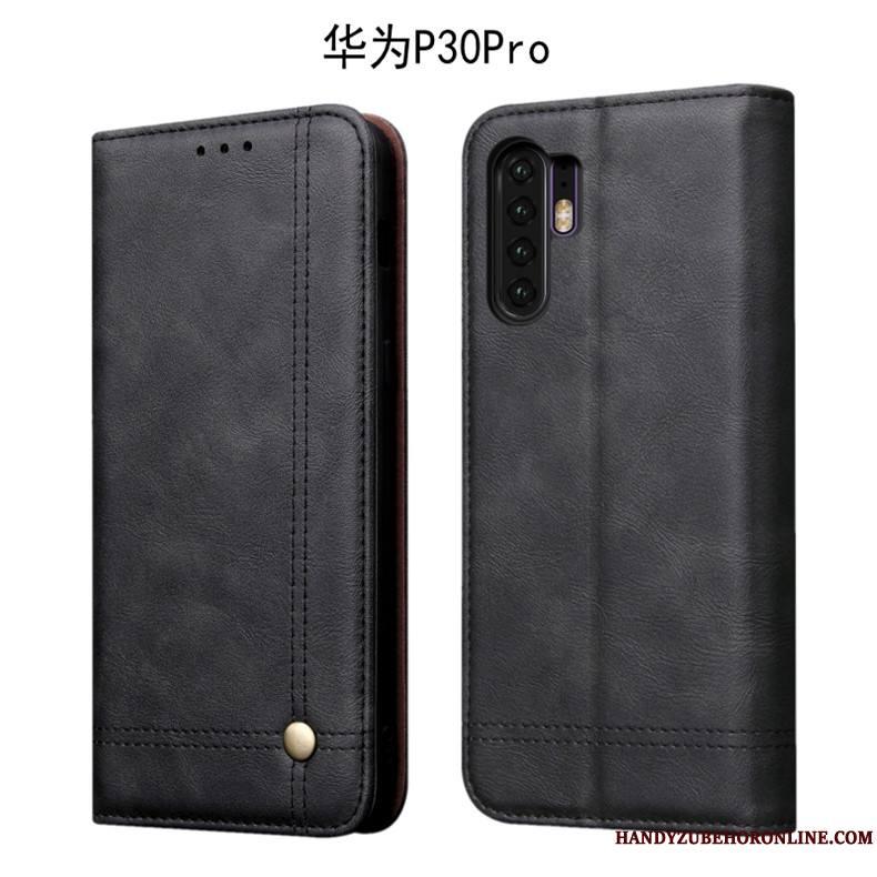 Huawei P30 Pro Coque Protection Incassable Étui Housse Fluide Doux Tout Compris Foncé