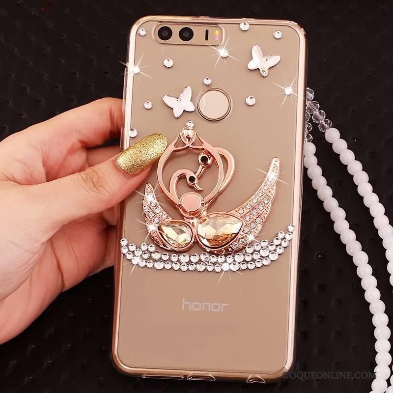 Huawei P9 Coque Anneau Étui Tout Compris Silicone Ornements Suspendus Incassable Strass