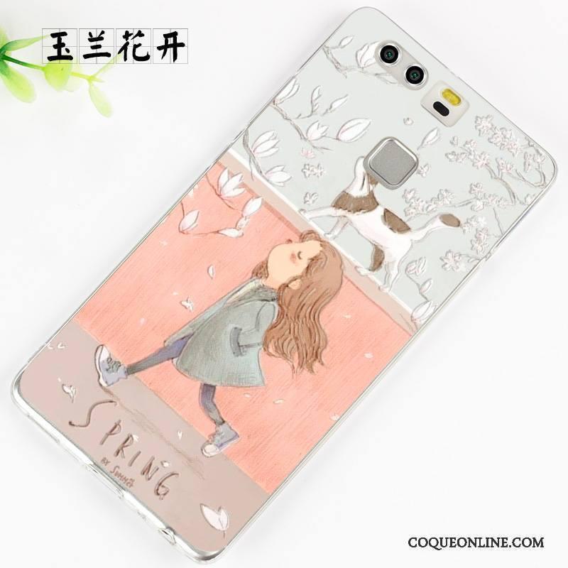Huawei P9 Plus Étui Fluide Doux Coque De Téléphone Protection Violet Créatif Silicone