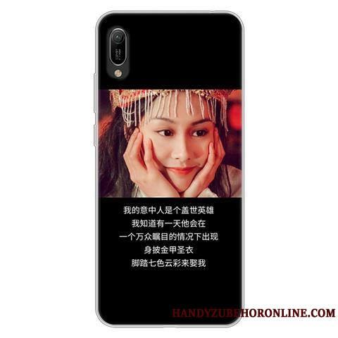 Huawei Y6 2019 Coque Protection Incassable Étui Dessin Animé Personnalité Noir