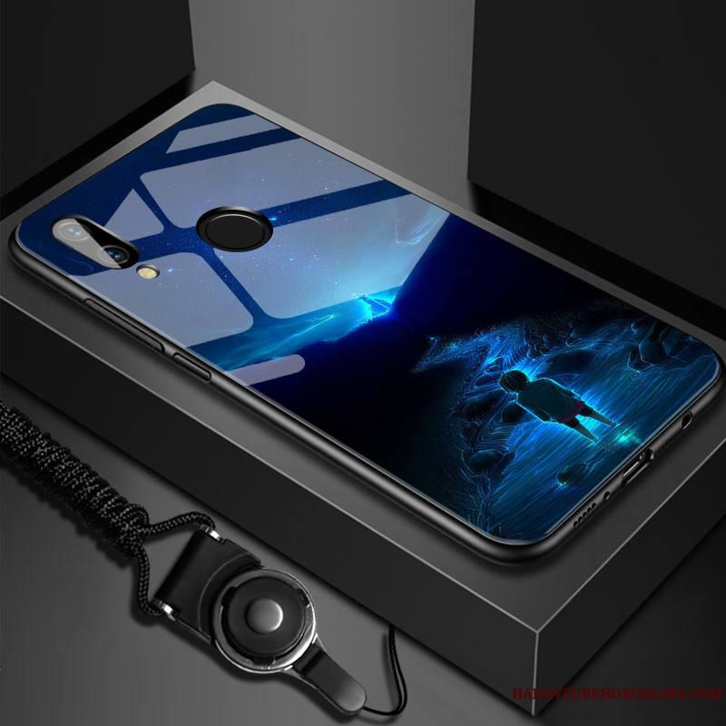 Huawei Y7 2019 Nouveau Miroir Tout Compris Silicone Luxe Incassable Coque De Téléphone