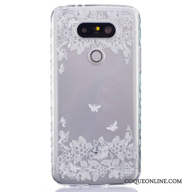 Lg G5 Silicone Incassable Étui Coque De Téléphone Dessin Animé Tendance Noir