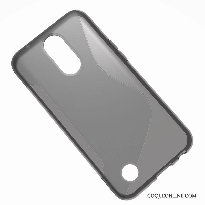 Lg K10 2017 Noir Téléphone Portable Protection Europe Coque Étui Fluide Doux