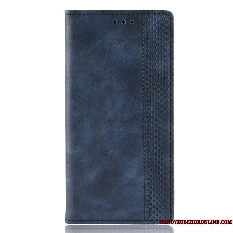 Mi 9t Pro Coque Téléphone Portable Clamshell Étui En Cuir Protection Petit Noir
