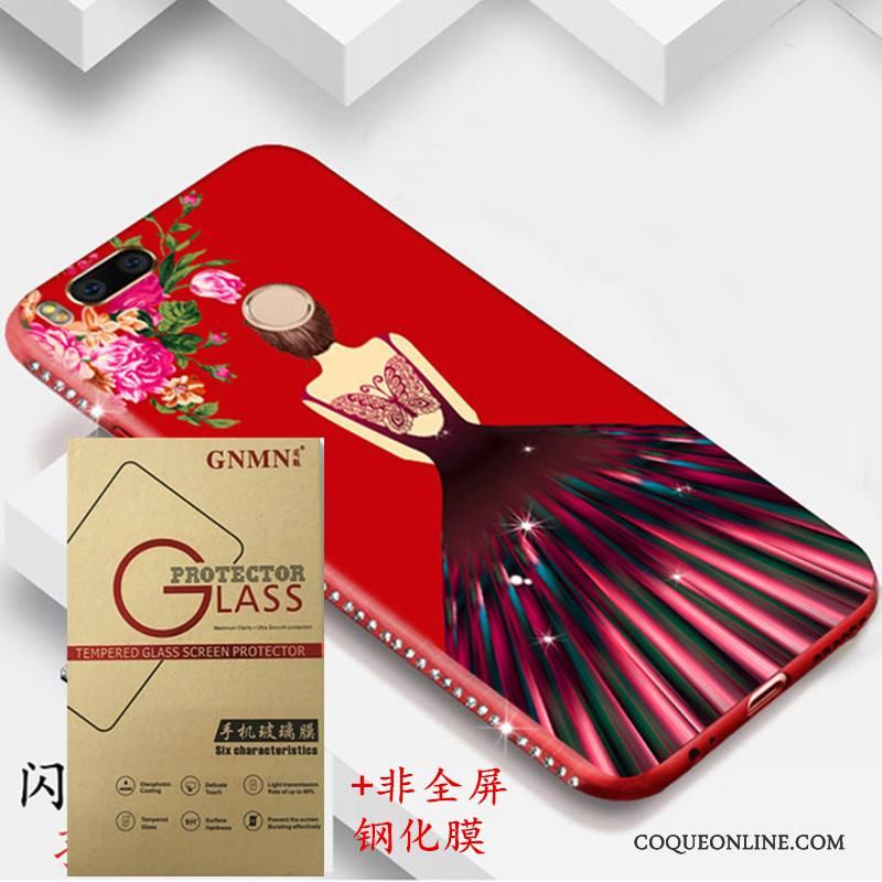 Mi A1 Protection Fluide Doux Rouge Coque De Téléphone Petit Tout Compris Nouveau