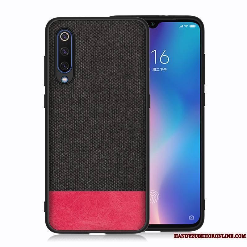 Mi A3 Silicone Incassable Petit Coque De Téléphone Tissu Bleu Rouge