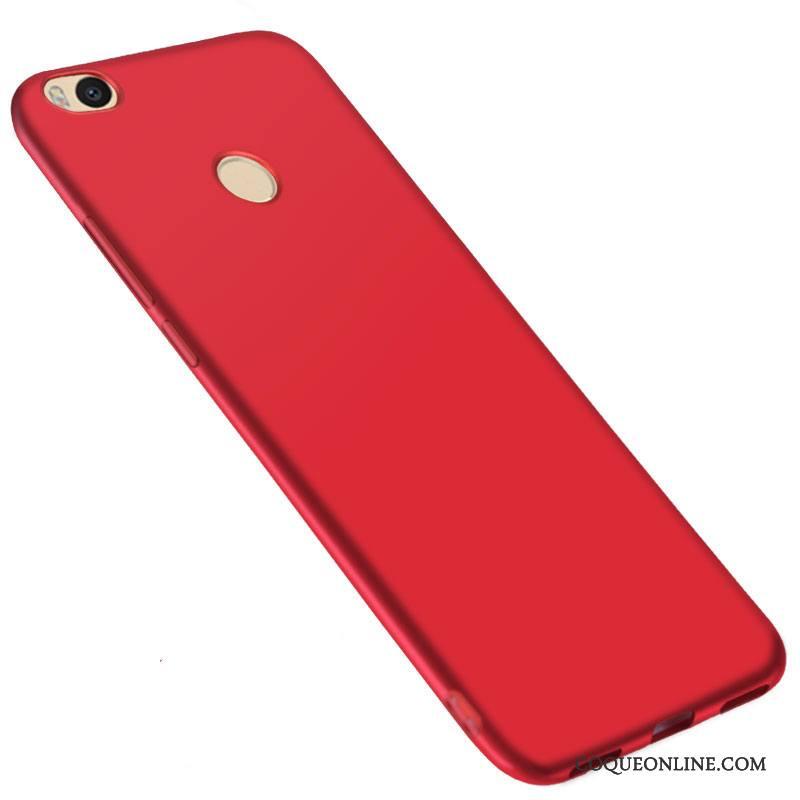Mi Max 2 Coque Créatif Incassable Protection Petit Personnalité Rouge Délavé En Daim