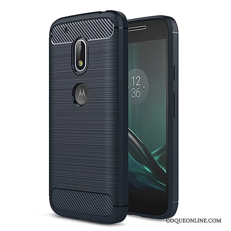 Moto G4 Play Fluide Doux Silicone Étui Coque De Téléphone Protection Bleu