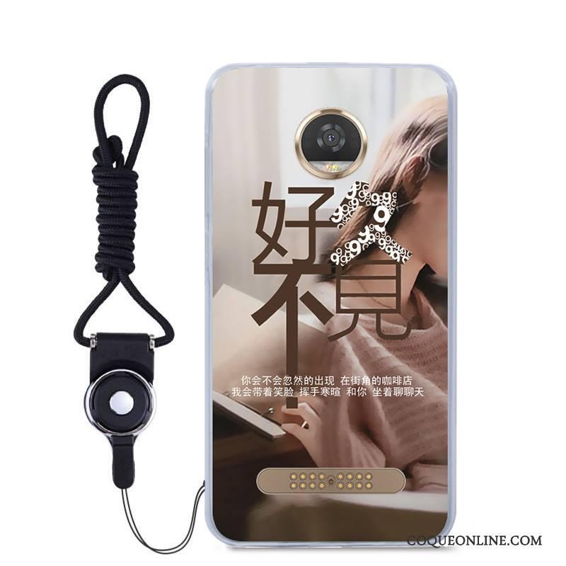 Moto Z2 Play Coque De Telephone Dessin Anime Legere Silicone Bleu