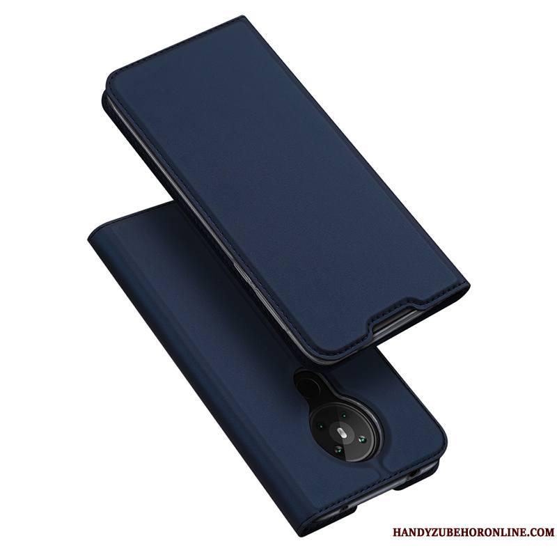 Nokia 5.3 Clamshell Magnétisme Simple Noir Étui En Cuir Coque De Téléphone Carte