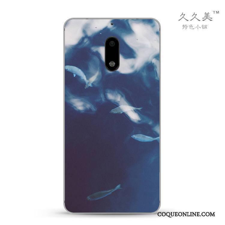 Nokia 6 Tout Compris Paysage Abstrait Coque De Téléphone Créatif Étui Fluide Doux