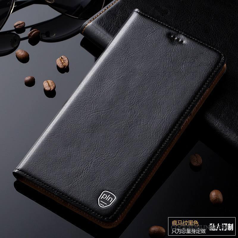 Nokia 7 Cuir Véritable Étui En Cuir Housse Bleu Protection Téléphone Portable Coque De Téléphone