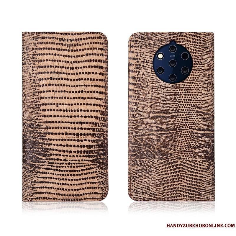 Nokia 9 Pureview Clamshell Téléphone Portable Bleu Incassable Étui Silicone Coque