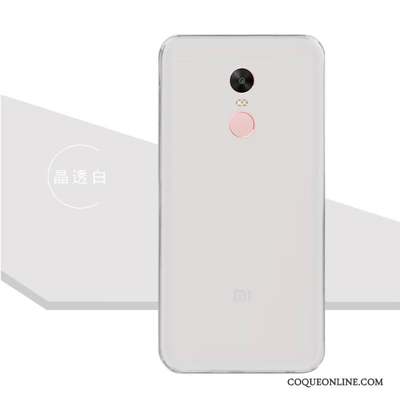Redmi Note 5 Coque Couleur Étui Incassable Protection Rose Transparent Fluide Doux