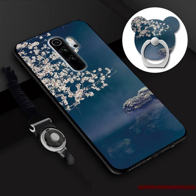 Redmi Note 8 Pro Petit Membrane Anneau Coque De Téléphone Tempérer Dessin Animé Incassable