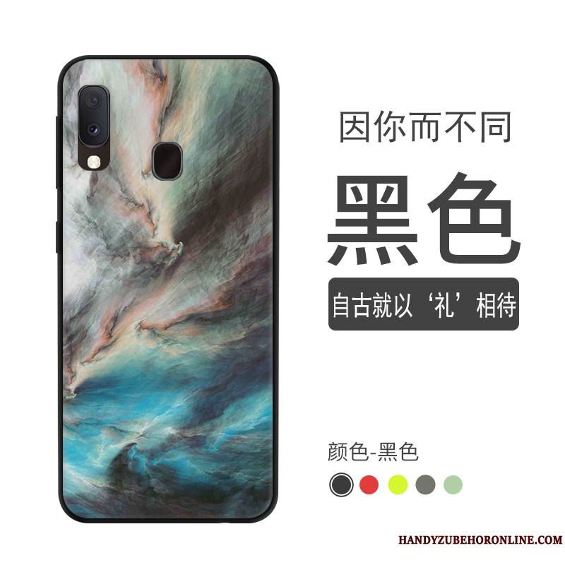 Samsung Galaxy A20e Coque Incassable Tout Compris Dégradé Protection Étoile Délavé En Daim Vert