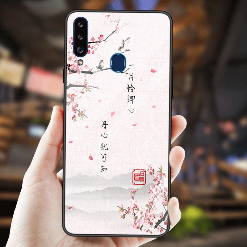 Samsung Galaxy A20s Étui Protection Étoile Coque De Téléphone Incassable Verre Trempé Miroir