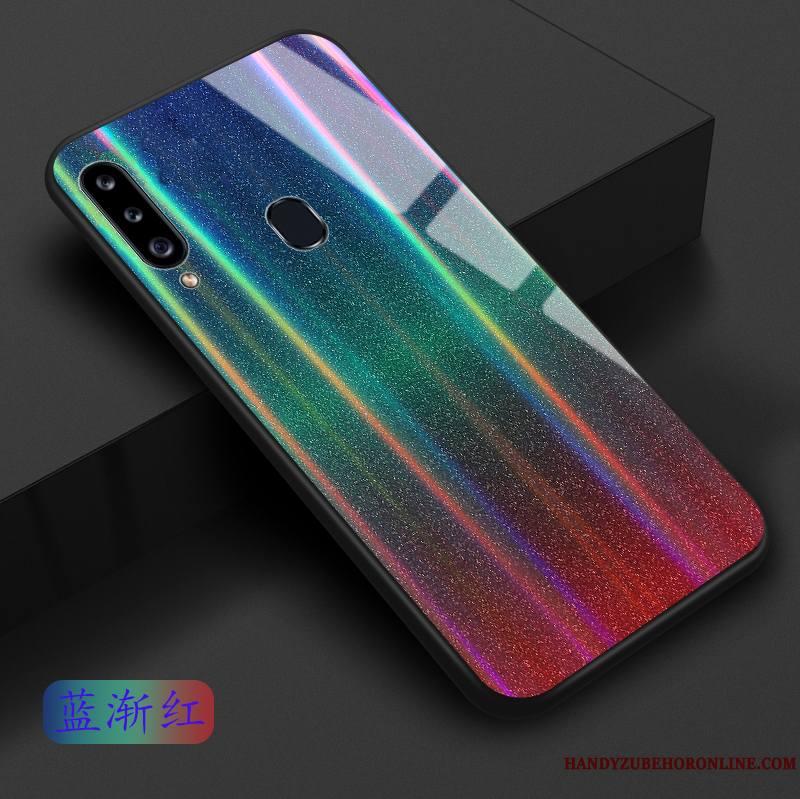 Samsung Galaxy A20s Coque Étoile Bleu Personnalité Rose Dégradé Violet Vert