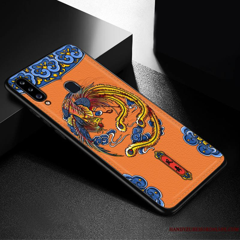 Samsung Galaxy A20s Coque Silicone Très Mince Mode Étoile Incassable Fluide Doux Tendance