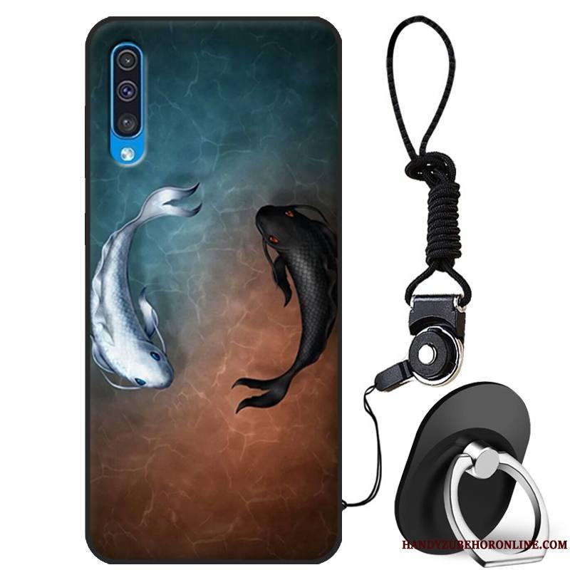 Samsung Galaxy A50 Coque Incassable Tout Compris Fluide Doux Personnalité Silicone Étoile Créatif