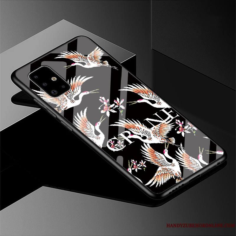 Samsung Galaxy A51 Étoile Difficile Coque Style Chinois Incassable Noir Verre