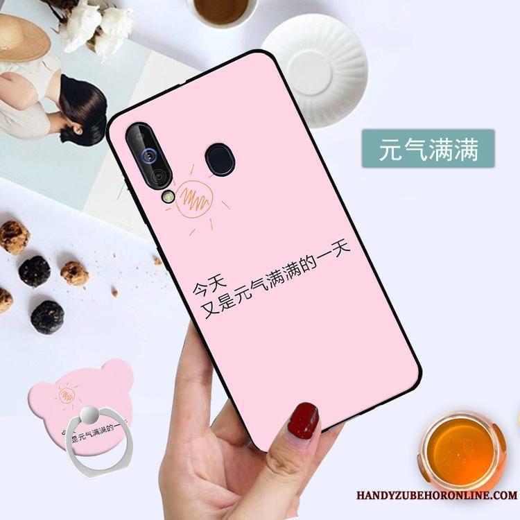 Samsung Galaxy A60 Coque Membrane Étoile Noir Protection Tempérer Étui Téléphone Portable
